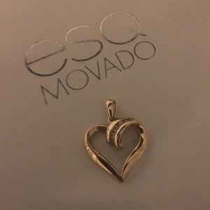 Jewelry - 14k gold heart with 4 diamonds